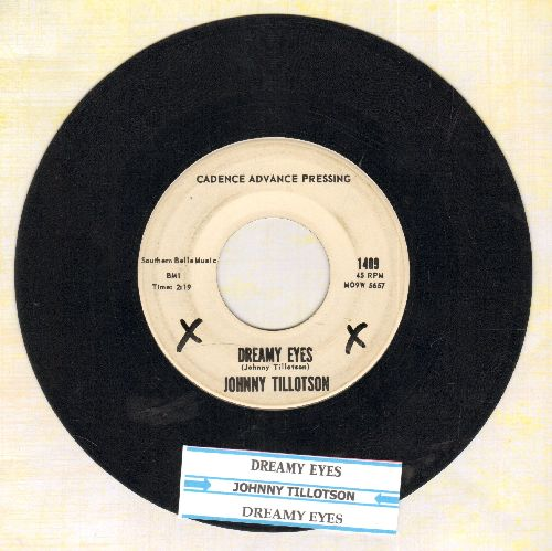 Tillotson, Johnny - Dreamy Eyes (double-A-sided DJ advance pressing with juke box label) - EX8/ - 45 rpm Records