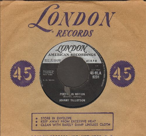 Tillotson, Johnny - Poetry In Motion/Princess, Princess (British Pressing with London company sleeve) - VG6/ - 45 rpm Records