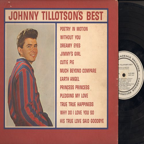 Tillotson, Johnny - Johnny Tillotson's Best: Poetry In Motion, Dreamy Eyes, Earth Angel, Jimmy's Girl, Pledging My Love, Why Do I Love You So (Vinyl MONO LP record, DJ advance pressing) - VG7/VG7 - LP Records