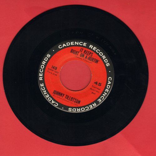 Tillotson, Johnny - It Keeps Right On A-Hurtin'/She Gave Sweet Love To Me  - EX8/ - 45 rpm Records