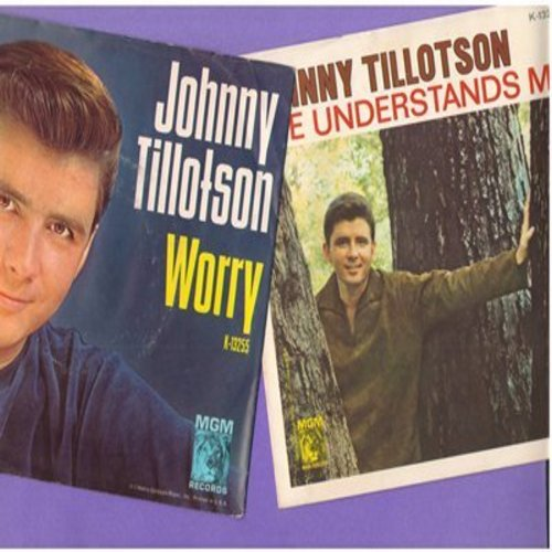 Tillotson, Johnny - 2 for 1 Special: Worry/She Understanda Me (2 vintage first issue 45rpm records with picture sleeves for the price of 1!) - NM9/EX8 - 45 rpm Records