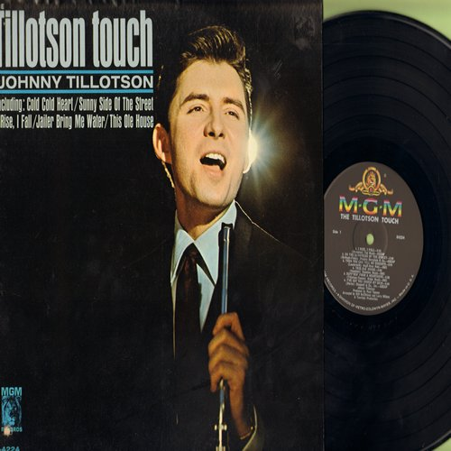 Tillotson, Johnny - The Tillotson Touch: Sunny Side Of The Street, Jailer Bring Me Water, This Ole House, Always, I've Got You Under My Skin, I Rise I Fall (Vinyl MONO LP record, NICE condition!) - NM9/NM9 - LP Records