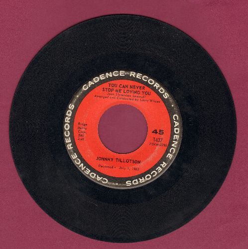 Tillotson, Johnny - You Can Never Stop Me Loving You (Das kannst du mir nicht verbieten)/Judy, Judy, Judy - VG7/ - 45 rpm Records