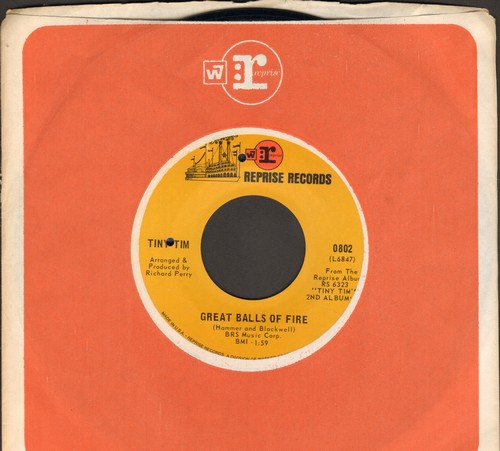 Tiny Tim - Great Balls Of Fire/As Time Goes By (with Reprise company sleeve)(bb) - EX8/ - 45 rpm Records