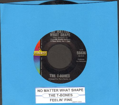 T-Bones - No Matter What Shape Your Stomach's In (made popular by TV commercial for Alca-Seltzer)/Feelin' Fine (with juke box label) - NM9/ - 45 rpm Records