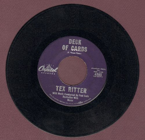 Ritter, Tex - Deck Of Cards/Ol' Shorty (purple label first pressing) - VG7/ - 45 rpm Records