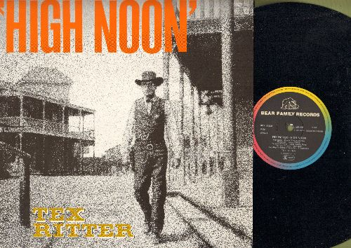 Ritter, Tex - High Noon: Boogie Woogie Cowboy, Pecos Bill, Billy The Kid, The Cattle Call, The Pony Express (vinyl MONO LP record, re-issue of vintage recordings, Made in EU) - NM9/NM9 - LP Records