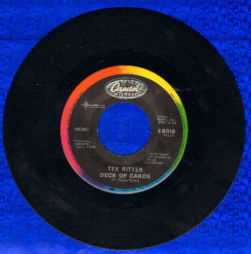 Ritter, Tex - Deck Of Cards/Rye Whiskey (double-hit re-issue) - NM9/ - 45 rpm Records