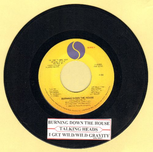 Talking Heads - Burning Down The House/I Get Wild/Wild Gravity (with juke box label) - NM9/ - 45 rpm Records