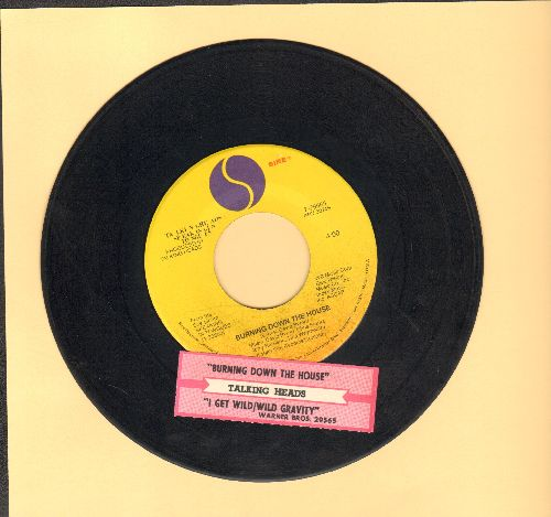 Talking Heads - Burning Down The House/I Get Wild/Wild Gravity (with juke box label) - EX8/ - 45 rpm Records