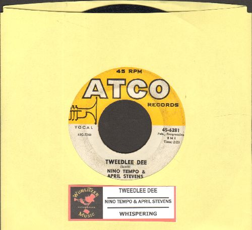 Tempo, Nino & April Stevens - Tweedlee Dee/Whispering (with juke box label) - EX8/ - 45 rpm Records