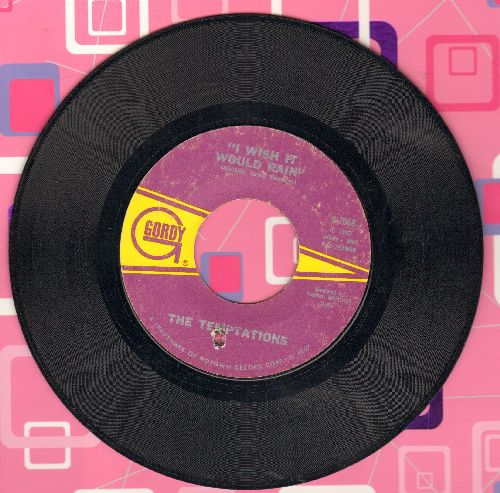 Temptations - I Truly, Truly Believe/I Wish It Would Rain (bb) - EX8/ - 45 rpm Records