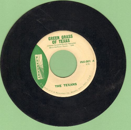 Texans - Green Grass Of Texas/Bloody River - EX8/ - 45 rpm Records