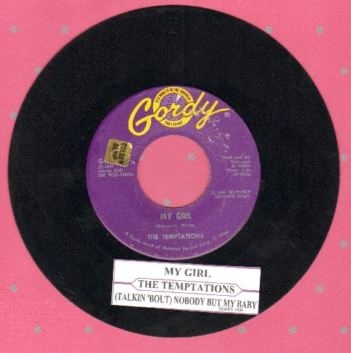 Temptations - My Girl/(Talking 'Bout) Nobody But My Baby (with juke box label) (bb) - VG7/ - 45 rpm Records