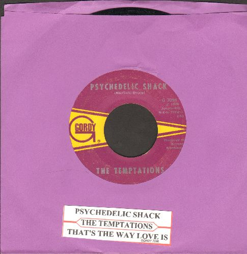 Temptations - Psychedelic Shack/That's The Way Love Is (with juke box label) - EX8/ - 45 rpm Records
