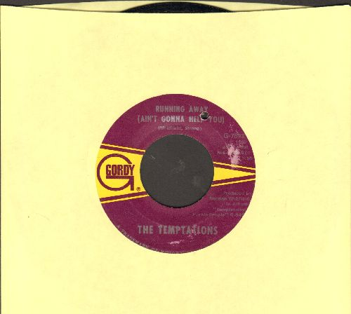 Temptations - Running Away (Ain't Gonna Help You)/I Can't Get Next To You (bb) - EX8/ - 45 rpm Records