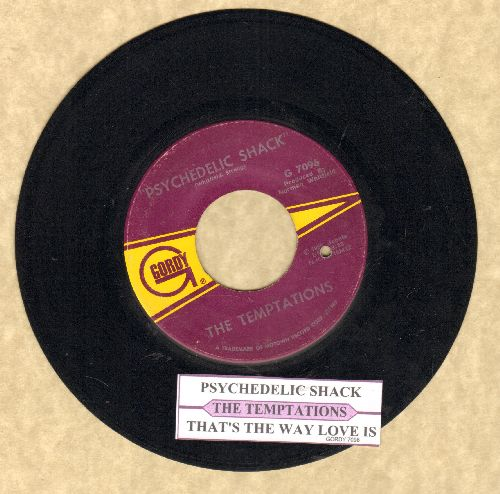Temptations - Psychedelic Shack/That's The Way Love Is (with juke box label) (bb) - EX8/ - 45 rpm Records