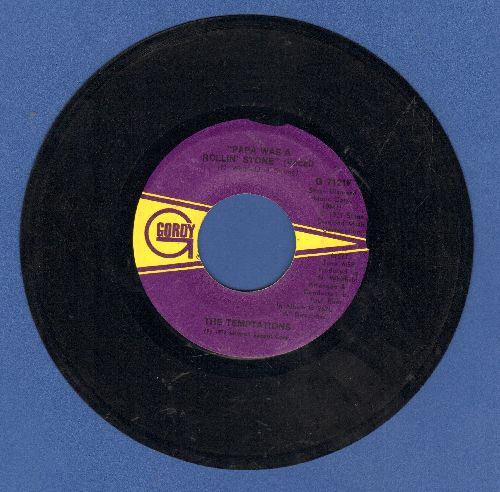 Temptations - Papa Was A Rolling Stone (6:58 minutes long version)/Papa Was A Rolling Stone (Instrumental) - VG7/ - 45 rpm Records