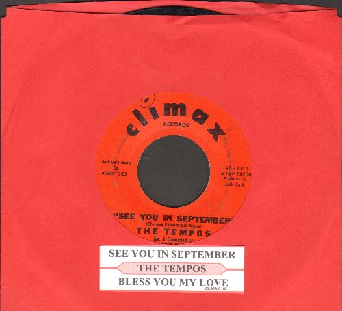 Tempos - See You In September/Bless You My Love (with juke box label) - EX8/ - 45 rpm Records