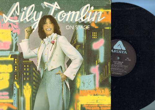 Tomlin, Lily - On Stage: Glenna - Child of the 60s, Lily and Shopping Bag Lady, Mrs. Judith Beasley, Ernestine, more! (vinyl LP reocrd) - EX8/EX8 - LP Records
