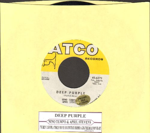 Tempo, Nino & April Stevens - Deep Purple/I've Been Carrying A Torch For You So Long That I Burned A Great Big Hole In My Heart (with juke box label) - NM9/ - 45 rpm Records