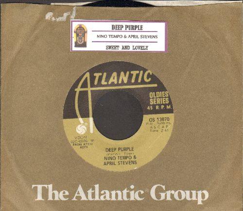 Tempo, Nino & April Stevens - Deep Purple/Sweet And Lovely (re-issue with juke box label and company sleeve) - NM9/ - 45 rpm Records