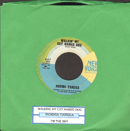 Tanega, Norma - Walkin' My Cat Named Dog/I'm The Sky (with juke box label) - EX8/ - 45 rpm Records