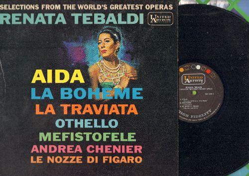 Tebaldi, Renata - Selections from the World's Greatest Operas: Aida, La Boheme, La Traviata, Othello, Mefistofele, MORE! (Vinyl MONO LP record) - NM9/NM9 - LP Records
