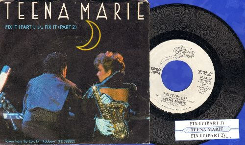 Teena Marie - Fix It (Parts 1 + 2,  DJ advance pressing with juke box label and picture sleeve) - NM9/EX8 - 45 rpm Records