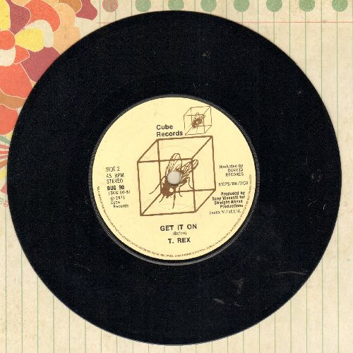 T. Rex - Get It On/Jeepster (British Pressing with small spindle hole) - NM9/ - 45 rpm Records