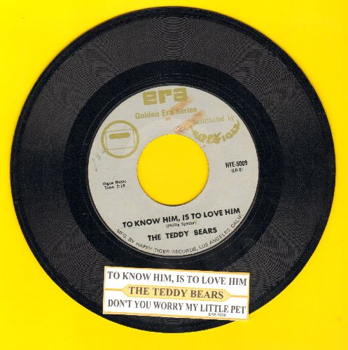 Teddy Bears - To Know Him Is To Love Him/Don't You Worry My Little Pet (re-issue with juke box label) - NM9/ - 45 rpm Records