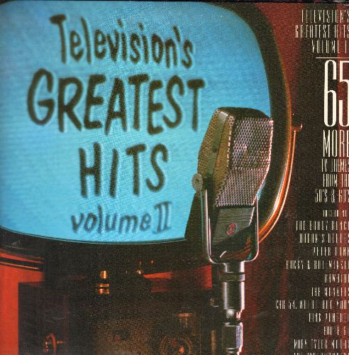 Tee Vee Toons - Televisions Greatest Hits Vol. II - 65 More TV Themes from the 50s & 60s: Brady Bunch, Bewitched, It's About Time, The Virginian, Green Hornet, more! (2 vinyl LP records in gate-fold cover) - NM9/NM9 - LP Records