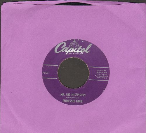 Tennessee Ernie (Ford) - Mr. And Mississippi/She's My Baby (purple label first issue) - EX8/ - 45 rpm Records