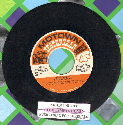 Temptations - Silent Night/Everything For Christmas (re-issue with juke box label) - VG7/ - 45 rpm Records