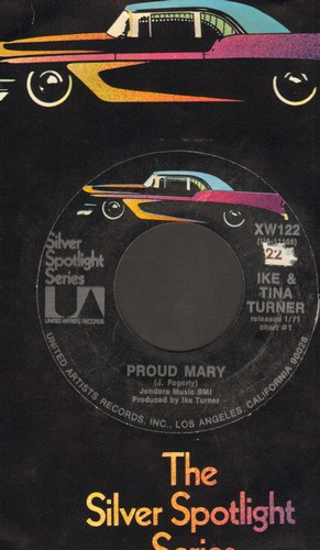 Turner, Ike & Tina - Proud Mary/Tra La La La La (re-issue, label blemish) - EX8/ - 45 rpm Records