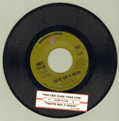 Taylor, James - You've Got A Friend/You Can Close Your Eyes (with juke box label) - NM9/ - 45 rpm Records