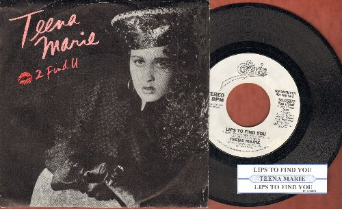 Teena Marie - Lips To Find You (double-A-sided DJ advance pressing with juke box label and picture sleeve) - NM9/EX8 - 45 rpm Records