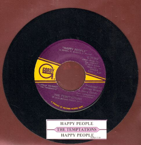 Temptations - Happy People/Happy People (Instrumental)(with juke box label) - NM9/ - 45 rpm Records
