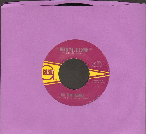 Temptations - I Need Your Lovin/Runaway Child, Running Wild (bb) - NM9/ - 45 rpm Records