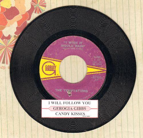 Temptations - I Truly, Truly Believe/I Wish It Would Raib (with juke box label)(bb) - EX8/ - 45 rpm Records