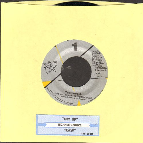 Technotronic - Get Up! (Before The Night Is Over)/Raw (MINT condition with juke box label) - M10/ - 45 rpm Records