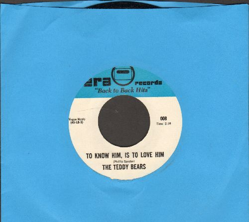 Teddy Bears - To Know Him Is To Love Him/Walk Right In (by The Moments on flip-side) (re-issue) - NM9/ - 45 rpm Records