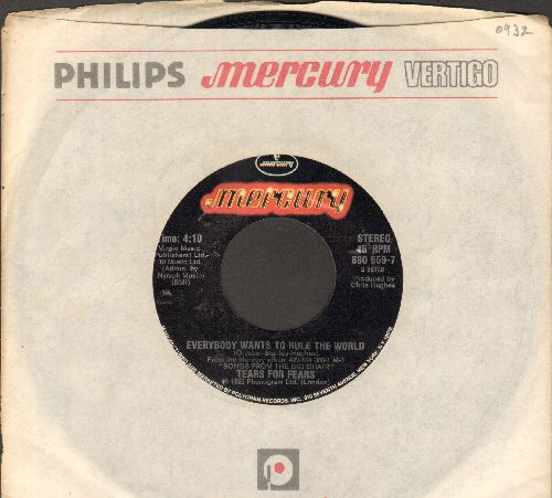 Tears For Fears - Everybody Wants To Rule The World/Pharaohs (with juke box label) - NM9/ - 45 rpm Records