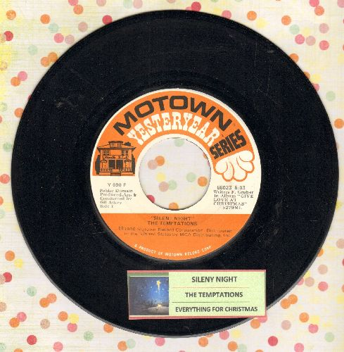 Temptations - Silent Night/Everything For Christmas (re-issue with juke box label) - NM9/ - 45 rpm Records