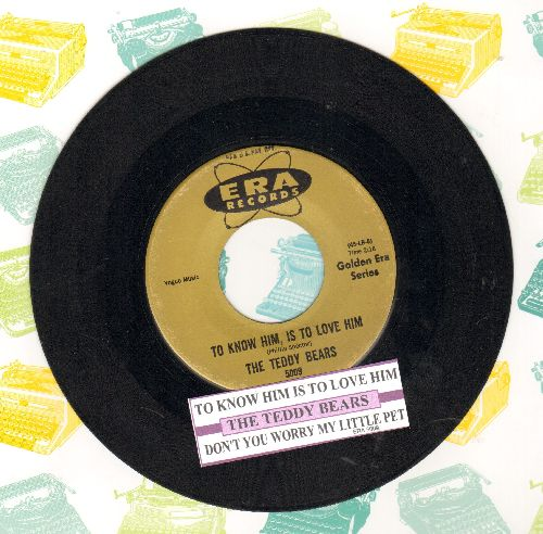 Teddy Bears - To Know Him Is To Love Him/Walk Right In (by The Moments on flip-side) (re-issue with juke vox label) - NM9/ - 45 rpm Records