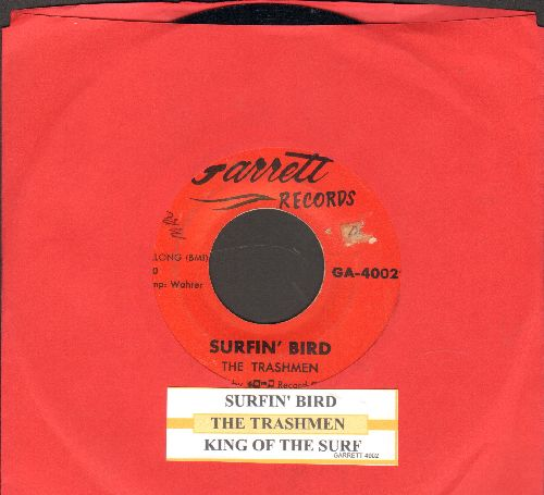 Trashmen - Surfin' Bird/King Of The Surf (with juke box label) - VG7/ - 45 rpm Records
