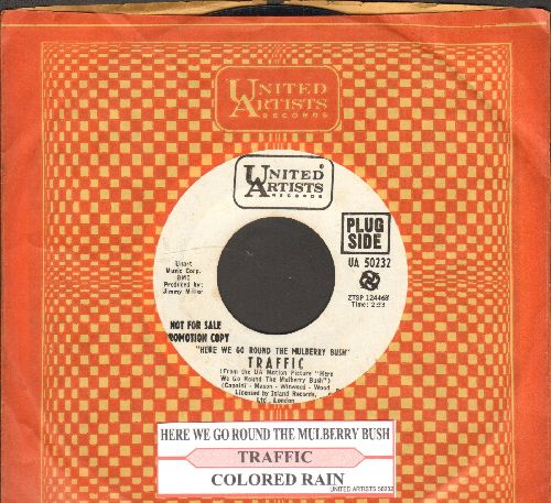 Traffic - Here We Go Round The Mulberry Bush/Colored Rain (DJ advance pressing with juke box label and United Artists company sleeve) - NM9/ - 45 rpm Records