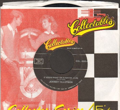 Tillotson, Johnny - Talk Back Trembling Lips/It Keeps Right On A-Hurtin' (double-hit re-issue with company sleeve) - EX8/ - 45 rpm Records