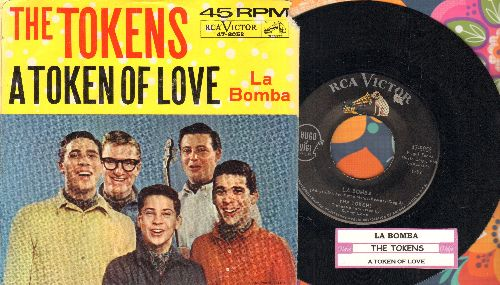 Tokens - La Bomba/A Token Of Love (with picture sleeve and juke box label) - NM9/VG7 - 45 rpm Records
