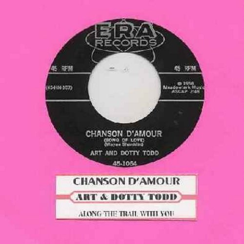 Todd, Art & Dotty - Chanson D'Amour/Along The Trail With You (with juke box label) - NM9/ - 45 rpm Records